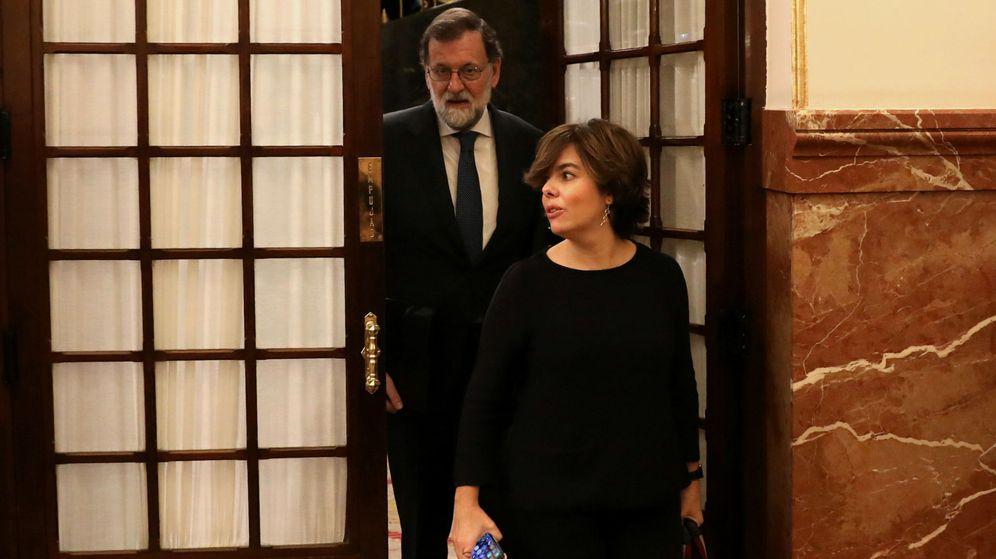 Foto: Mariano Rajoy y Soraya Sáenz de Santamaría en el Congreso. (Reuters)