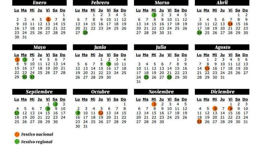 Calendario laboral 2017: así quedan los puentes, días libres y vacaciones del año