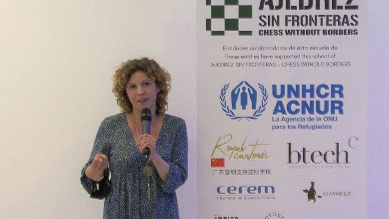 Susana Buitrago en un evento de ASF en el Palacio de Neptuno