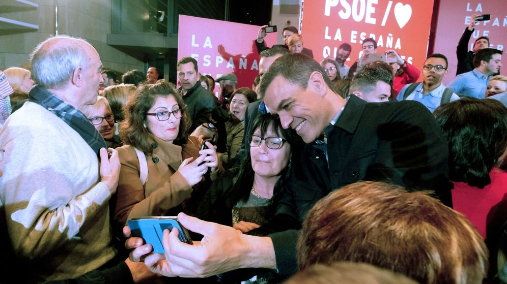Foto: Pedro Sánchez, en Logroño. (EFE)
