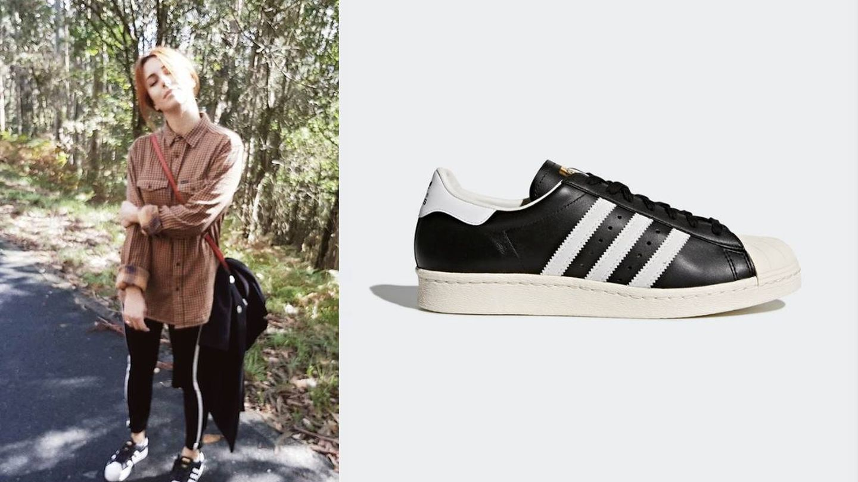 Blanca Suárez y sus Adidas Superstar 80s. (Instagram)