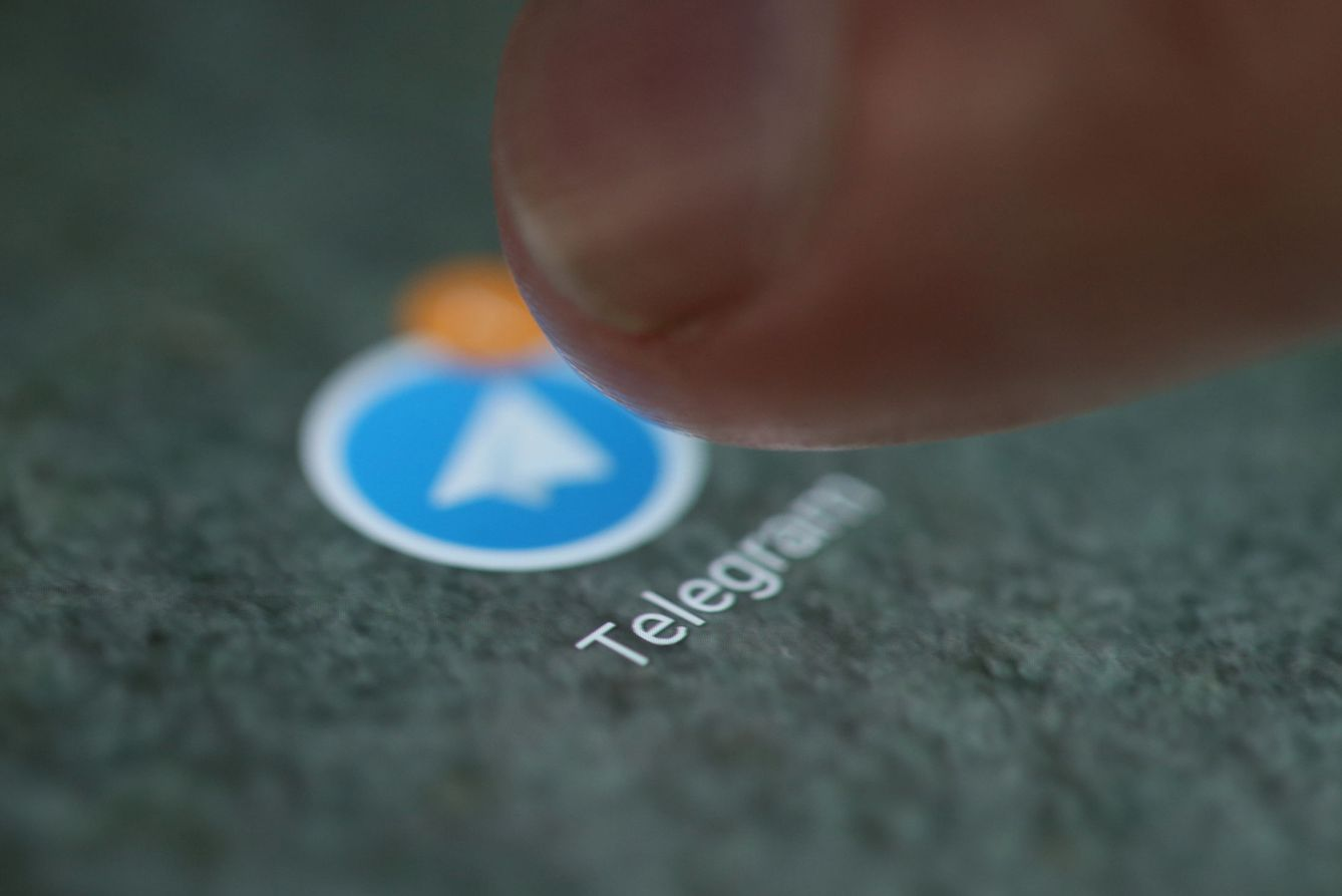 Foto: The telegram app logo is seen on a smartphone in this illustration
