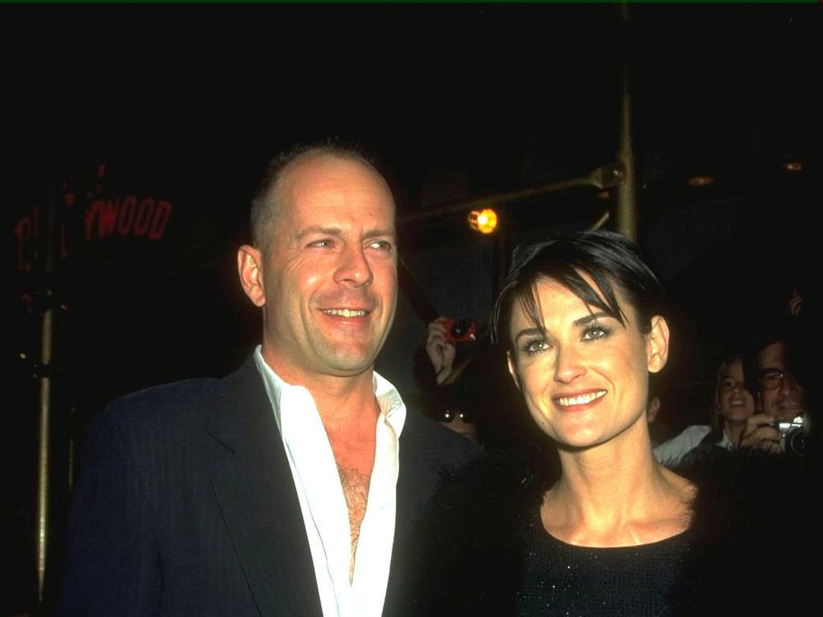Foto:  Bruce Willis y Demi Moore, en 1998. (Getty)