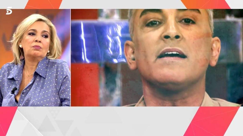 Borrego escuchando las declaraciones de Kiko Hernández. (Telecinco).