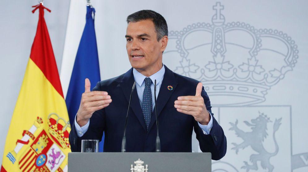 Foto: El presidente del Gobierno, Pedro Sánchez, durante su comparecencia ante los medios tras la reunión del Consejo de Ministros. (EFE)