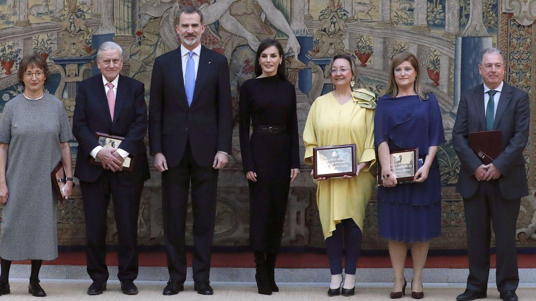 Los reyes Felipe VI y Letizia, en el acto de entrega de los Premios Nacionales de Investigación 2019. (EFE)