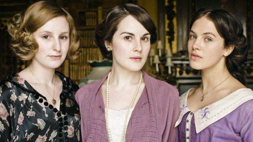 Foto:  Las hermanas Crawley, en 'Downton Abbey'. (Netflix)