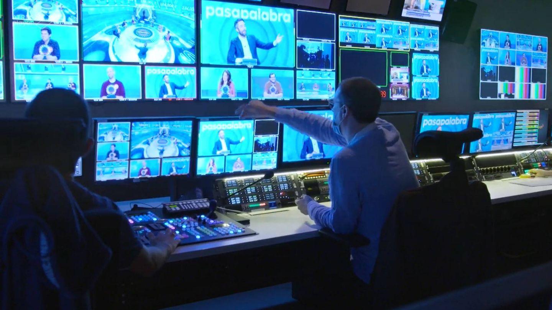 Control de realización de 'Pasapalabra'. (Atresmedia)