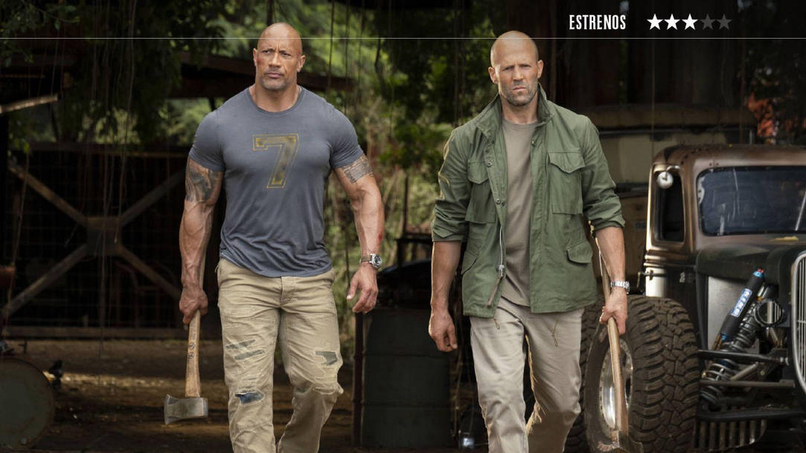 Foto: Dwayne Johnson y Jason Statham protagonizan la última entrega de la saga 'A todo gas'. (Universal)