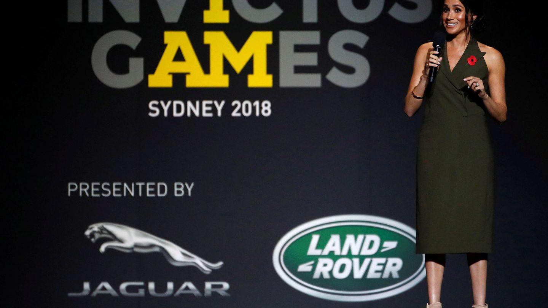 Meghan durante la presentación final de los Juegos Invictus.(REUTERS)