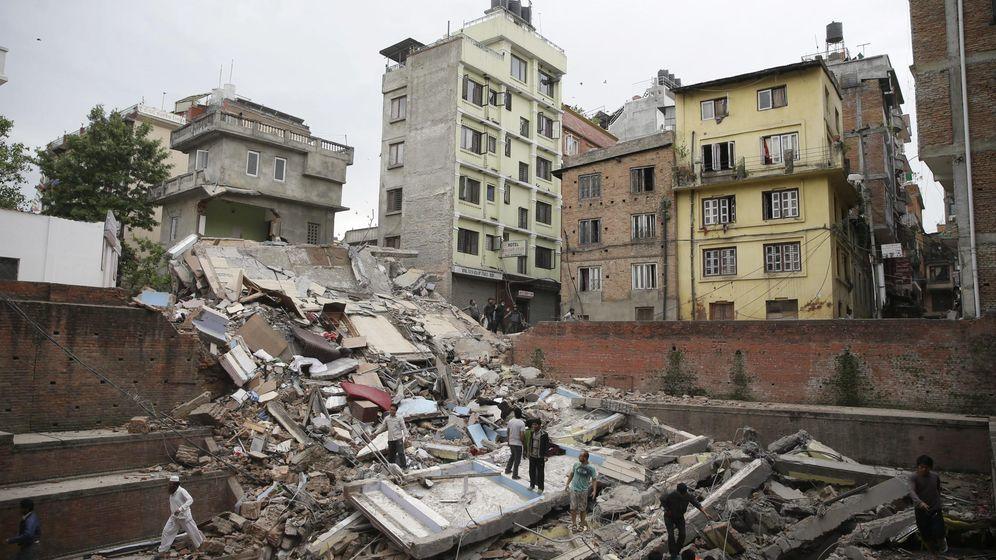 Foto: Terremoto en Nepal. (Efe)