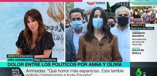 Post de Tensa conexión entre Mamen Mendizábal e Inés Arrimadas en La Sexta