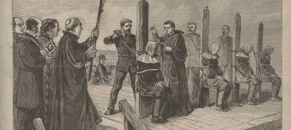 Foto: Portada de un periódico francés de 1892 donde se habla de la ejecución de los anarquistas.