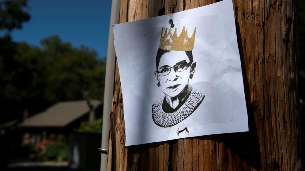 Foto: Una imagen de Ruth Bader Ginsburg. (Reuters)