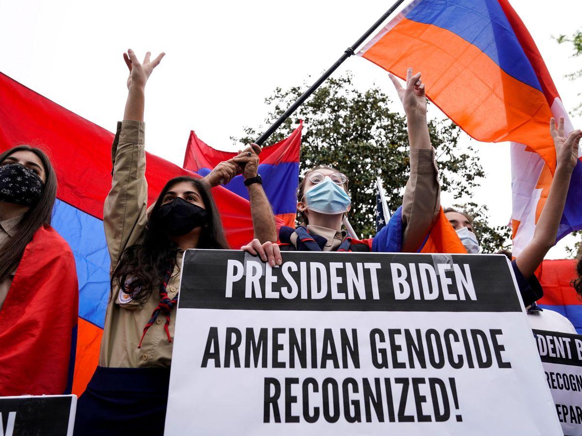 Foto: Miembros de la diáspora armenia en Washington. (Reuters)