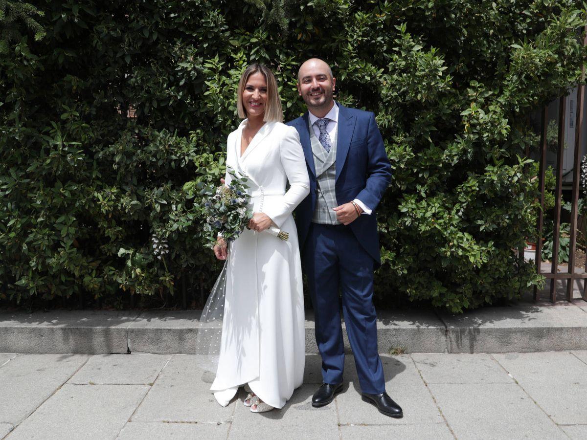 Foto: Aaron Guerrero y Salomé Gadea en su boda. (Gtres)