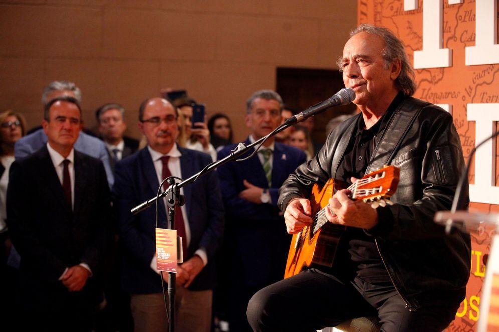 Foto: Joan Manuel Serrat, el pasado 19 de octubre en Zaragoza. (EFE)