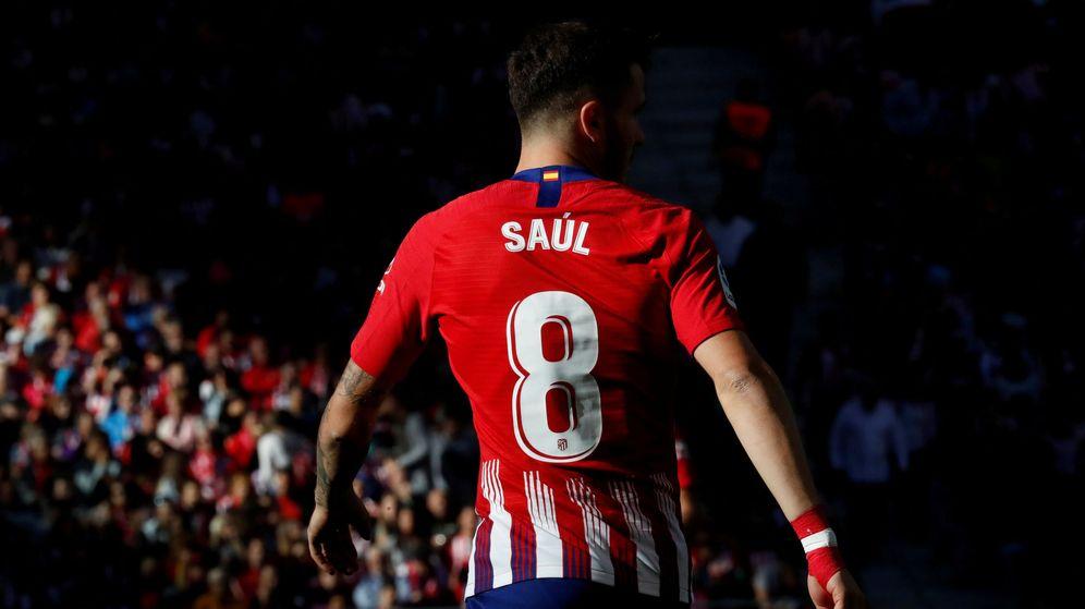 Foto: Saúl Ñíguez, en el Wanda Metropolitano. (Reuters)