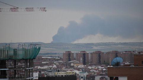Controlado el fuego de las naves industriales en Seseña, que ya afecta a 53.000 metros cuadrados