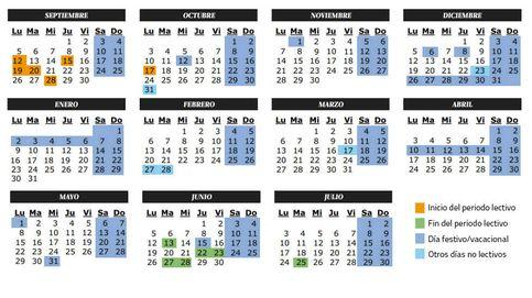 Calendario escolar del curso 2016-2017 en Castilla-La Mancha: festivos y lectivos