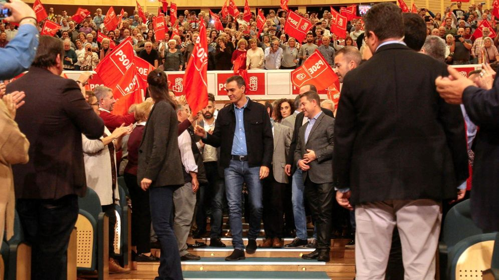 Foto: El líder del PSOE, Pedro Sánchez, en un acto del partido en Guadalajara. (EFE)
