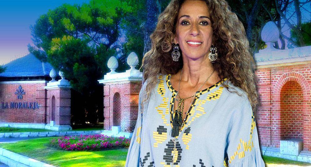 Foto: Rosario Flores, en un fotomontaje realizado por Vanitatis.