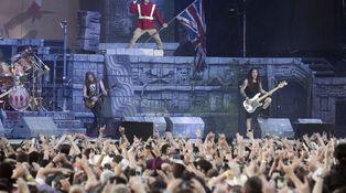 Los gigantes Iron Maiden, en concierto: se comen Madrid con un indígena terrorífico