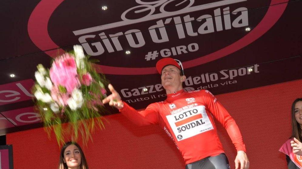 Foto: Greipel se vistió con la 'maglia rossa' de la regularidad (@giroditalia).
