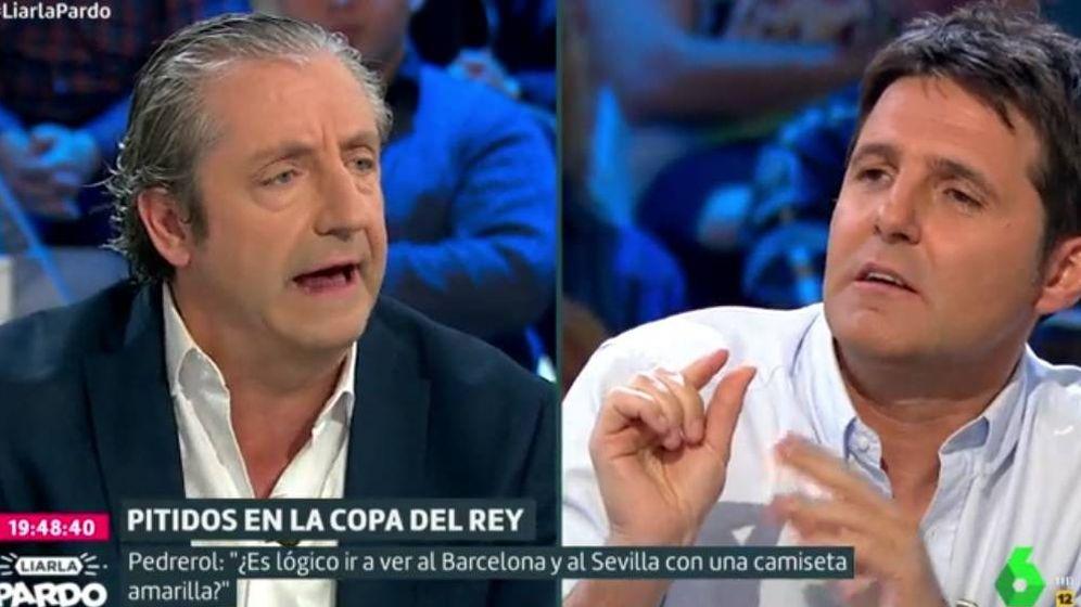Foto: Josep Pedrerol y Jesús Cintora en 'Liarla Pardo'.