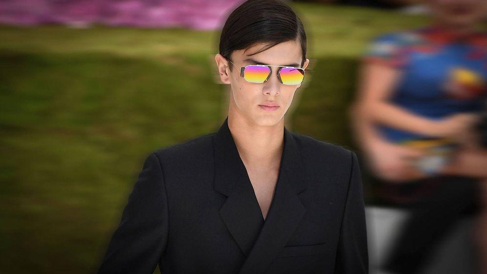 Foto: El príncipe Nicolás desfilando para Dior. (Getty)