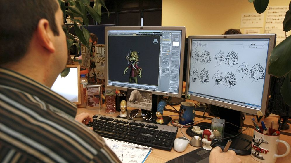 Foto: Proceso de creación de la película 'Planet 51', obra de Ilion. (EFE)