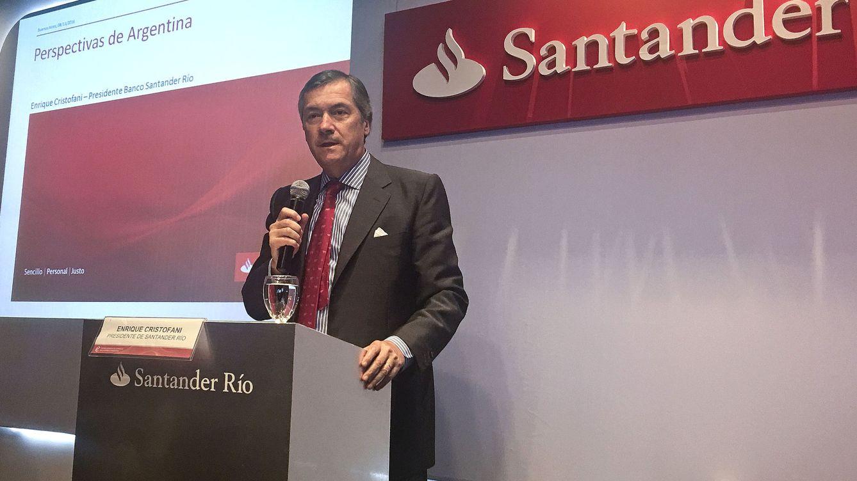 Foto: Enrique Cristofani, presidente de Santander en Argentina.