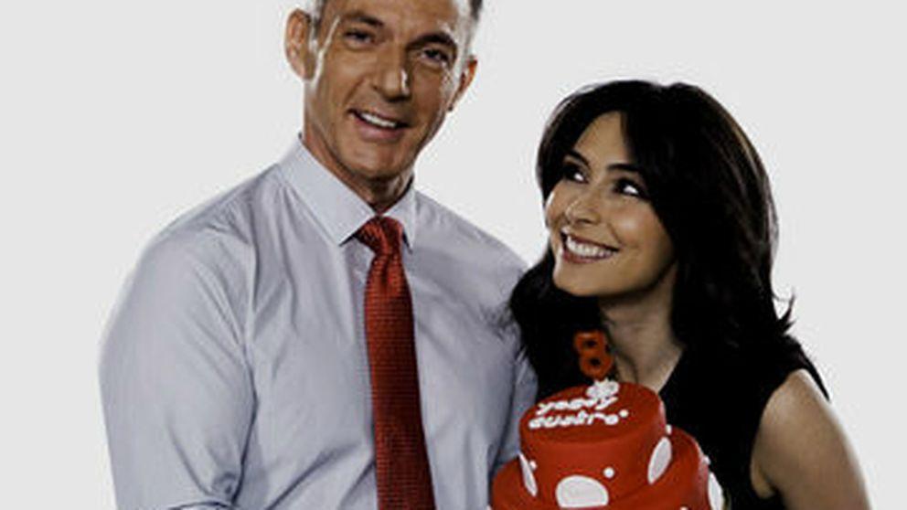 Los presentadores de Cuatro celebran su 8º aniversario