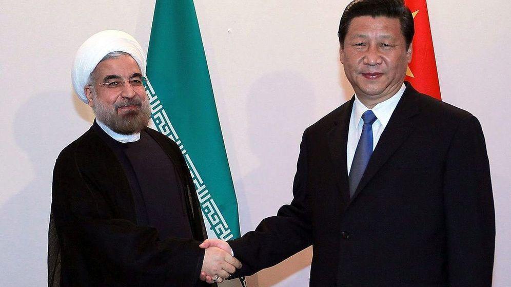 Foto: Fotografía de archivo de Hasan Rohani y Xi Jinping. (EFE)