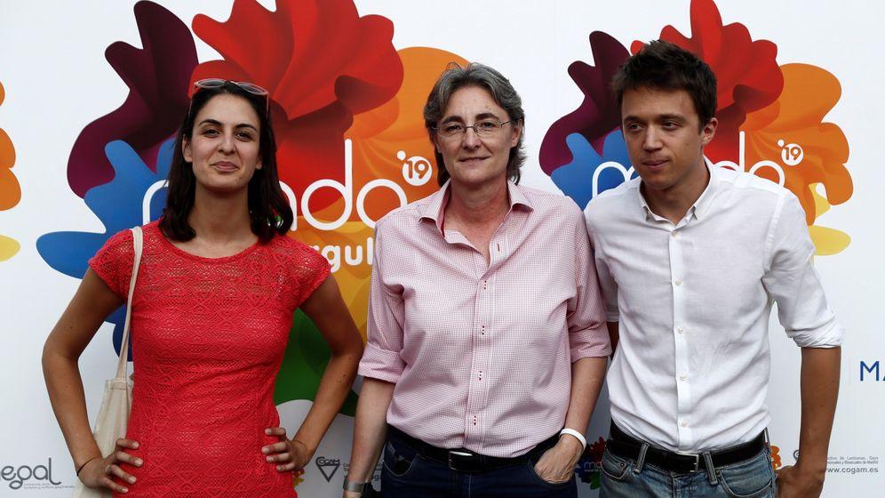 Foto: Marta Higueras, junto a Maestre y Errejón. (EFE)