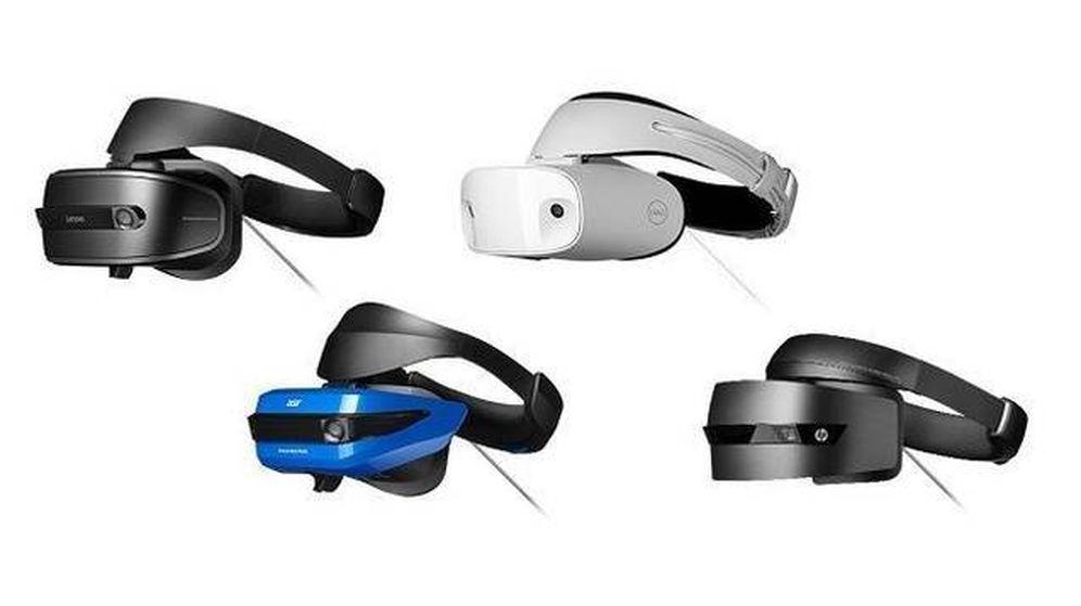 Foto: Vista de los cascos de Acer, Lenovo, HP y Dell. (Microsoft)
