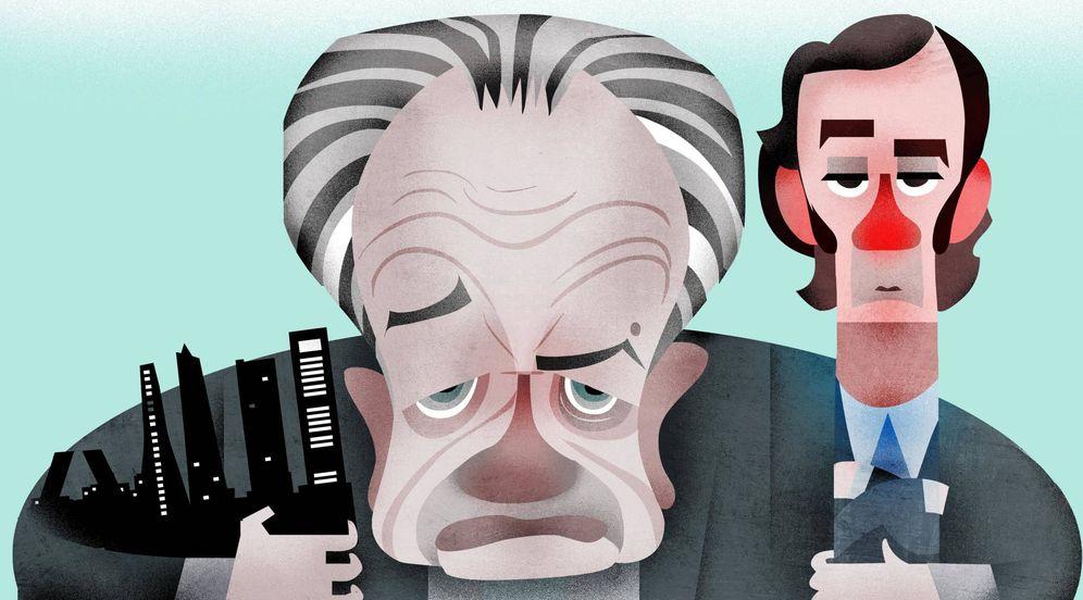 Foto: Juan Miguel Villar Mir y su hijo Juan Villar-Mir. (Ilustración: Raul Arias)