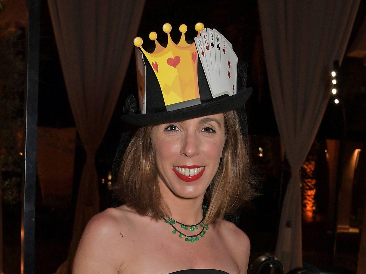 Foto: Ana Aznar, en la fiesta de Sombreros Locos en Marruecos. (Getty)