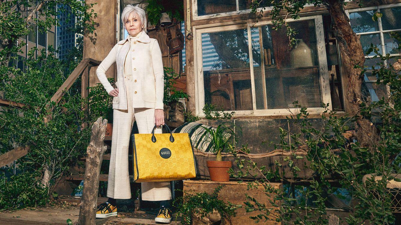 Gucci apuesta por Jane Fonda para la imagen de su campaña más sostenible