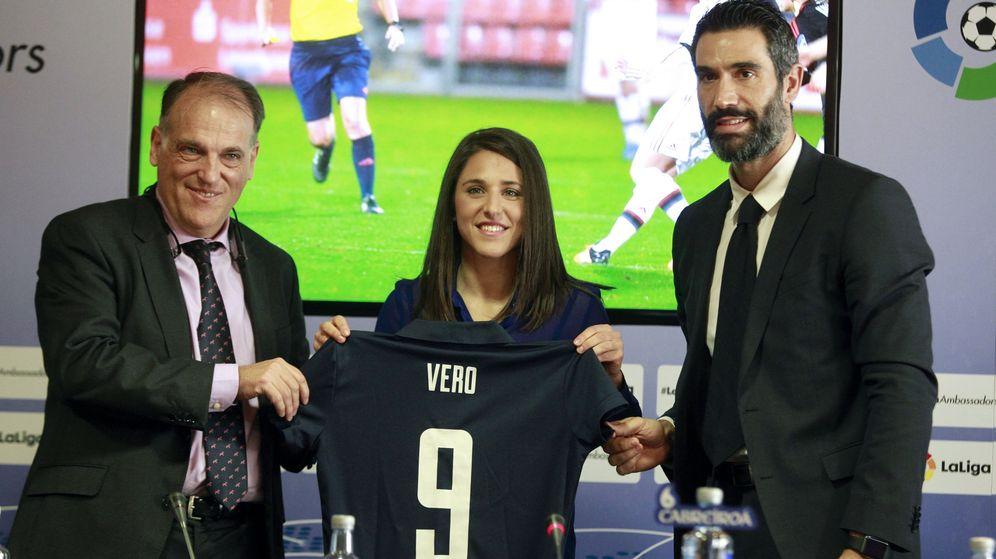 Foto: Vero Boquete, nueva embajadora de La Liga (EFE)