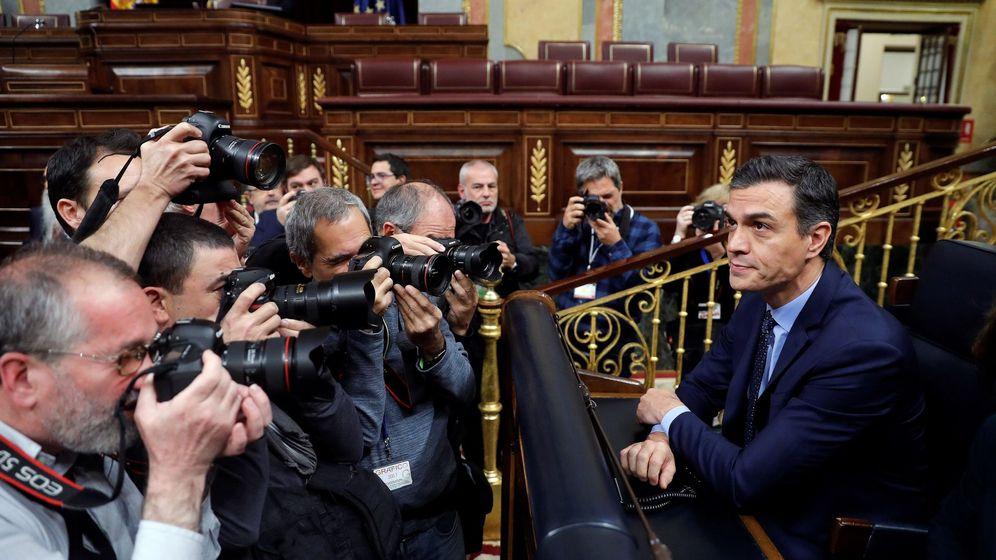 Foto: El presidente del Gobierno en funciones, Pedro Sánchez, este martes al inicio de la sesión constitutiva del Congreso de los Diputados. (EFE)