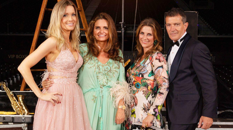 Foto:   Nicole Kimpel, Sandra García-Sanjuán, Marta Luisa de Noruega y Antonio Banderas. (Foto: equipo Starlite)