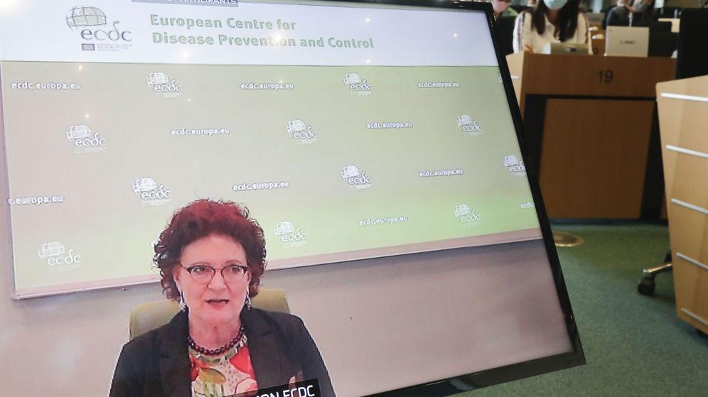 Foto: La directora del Centro Europeo de Control de Enfermedades, Andrea Ammon. (EFE)
