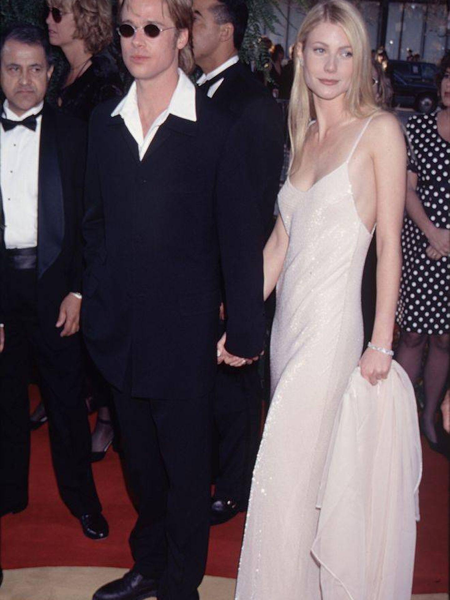 Brad Pitt y Gwyneth Paltrow, en 2003.  (Getty)