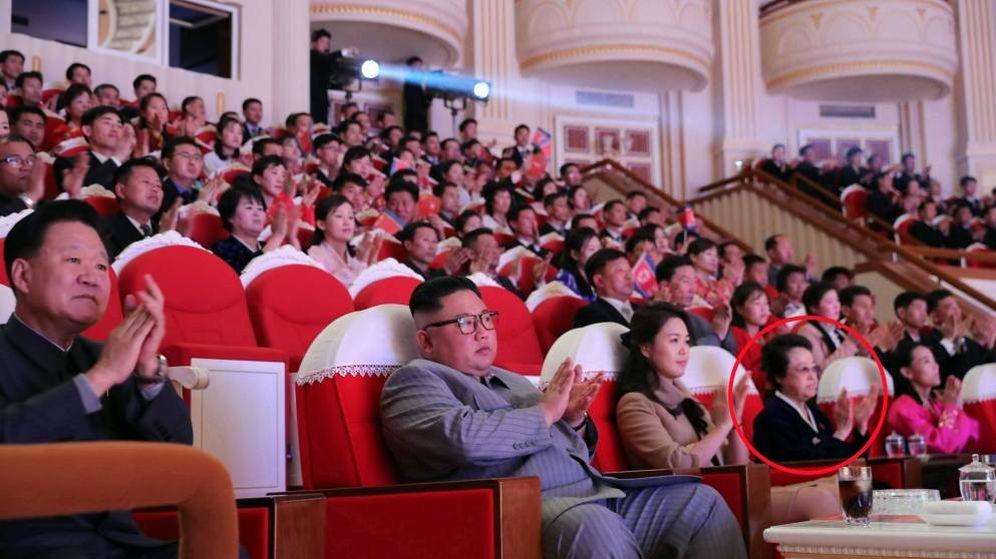 Foto: Kim Jong-un, su esposa Ri Sol-ju y, a su lado, Kim Kyong-hui, desaparecida desde hace seis años. (EFE)