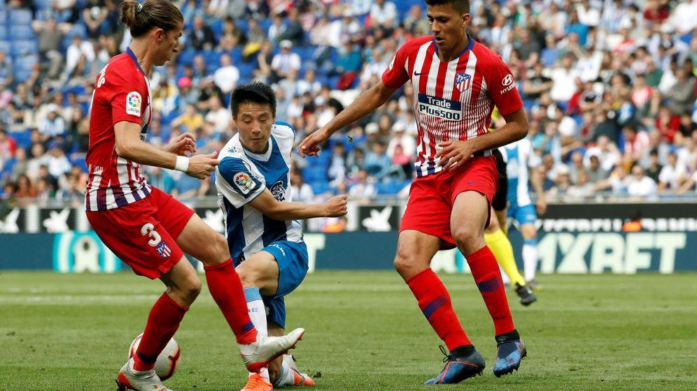 Foto: Rodrigo en un partido con el Atlético de Madrid ante el Espanyol. (Efe)