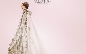 Valentino enseña el vestido de novia de Tatiana Santo Domingo