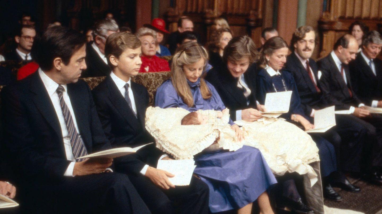 El príncipe Felipe en el bautizo de Ernesto Augusto. (Getty)