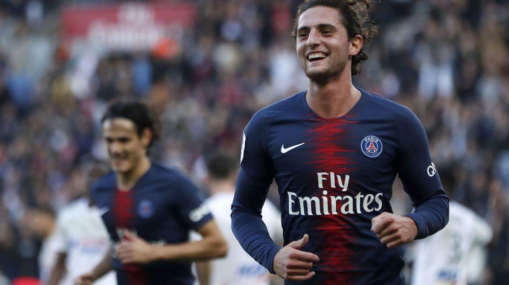 Foto: Adrien Rabiot celebra un gol con el Paris Saint Germain. (Efe)