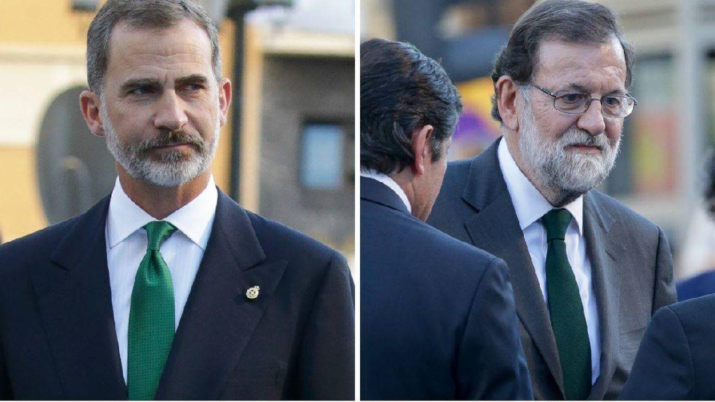 Felipe VI, Mariano Rajoy y el misterio de la corbata V.E.R.D.E. (Viva el Rey de España)